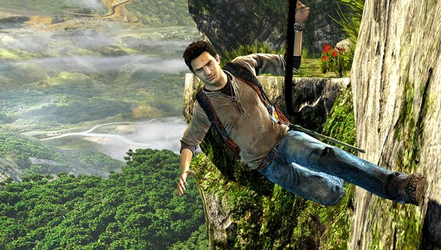 Nathan Drake weiß, wie man klettert.