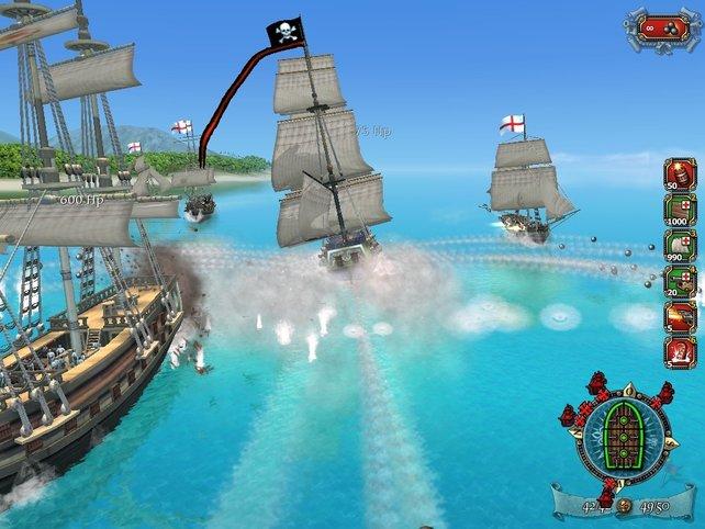 Ein heftiger Schiffskampf