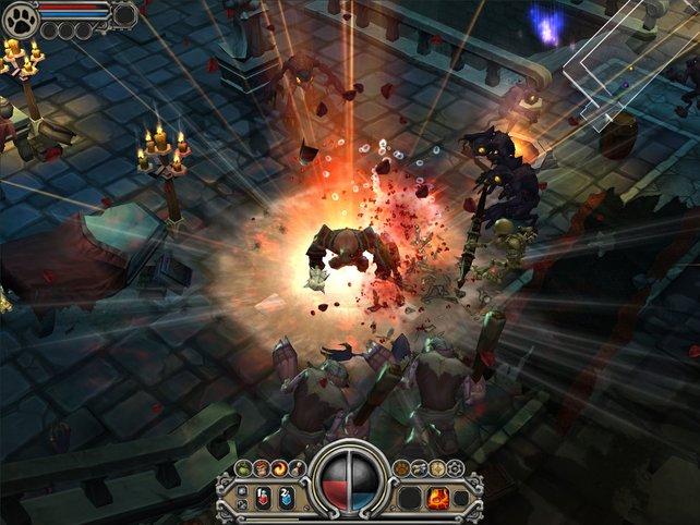 Erst in Torchlight 2 könnt ihr auch mit Freunden auf Monsterhatz gehen (Bild aus Torchlight 1).