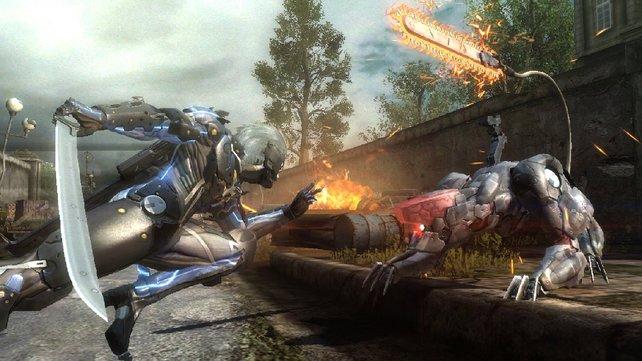 Mit Aufwertungen verbessert Raiden seine Lebenspunkte und den Schaden seines Schwertes.