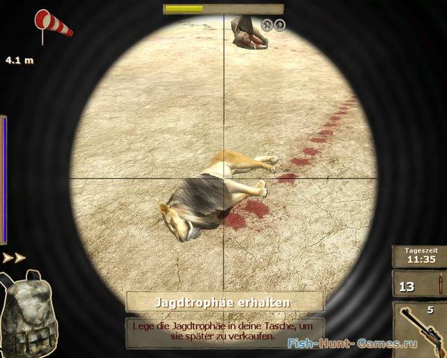 Die virtuelle Großwildjagd motiviert durch Trophäen und schicke Schuss-Animationen.