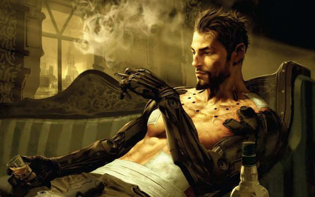Adam Jensen, der Hauptdarsteller von Deus Ex - Human Revolution.
