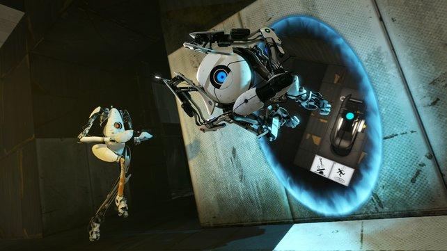 Im Mehrspieler spielt ihr die beiden Roboter P-Body und Atlas.