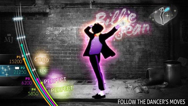 Ihr könnt die berühmtesten Jackson-Lieder mit wilden Choreografien nachtanzen.