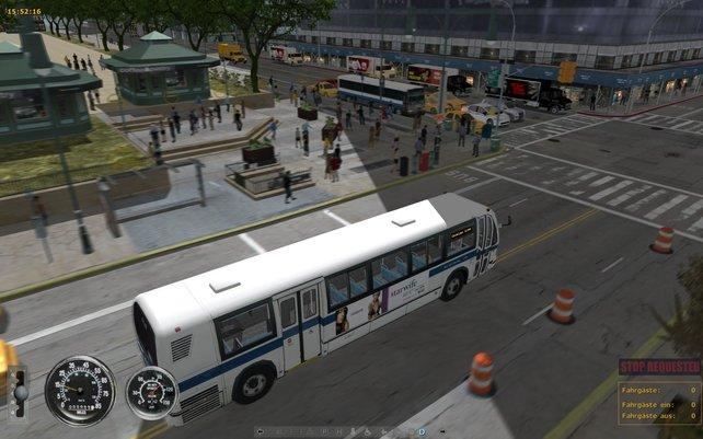 Der Bus sieht schick aus, der Rest der Grafik nicht.