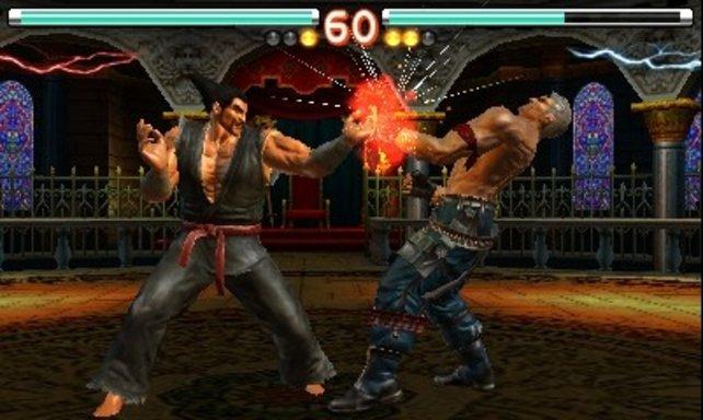 Typisch für Tekken sind die Lichteffekte bei Treffern.