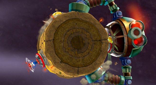 Auch Teil 2 entführt Mario in den Weltraum.