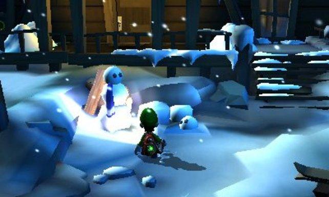 Eine Schneelandschaft - soetwas gab es in Luigis erstem Abenteuer nicht.