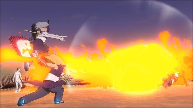 Darui tritt gegen die Brüder Kinkaku und Ginkaku an.