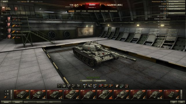Nahkampf gefällig? Der T-54 fühlt sich am wohlsten, wenn ihm die brennenden Überreste seiner Feinde um die Ohren fliegen.