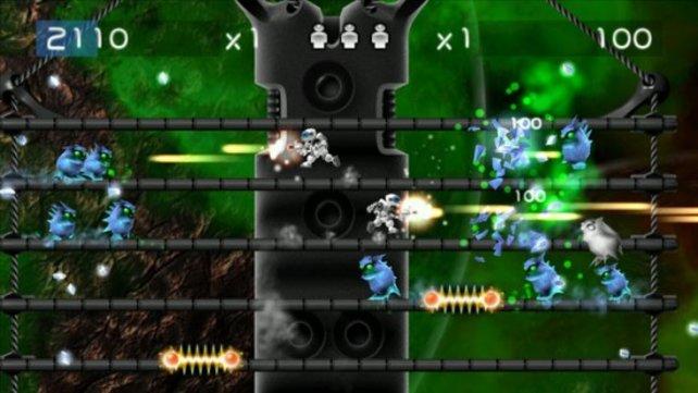 Alien Zombie Megadeath weckt alte Heimcomputer-Action-Erinnerungen.