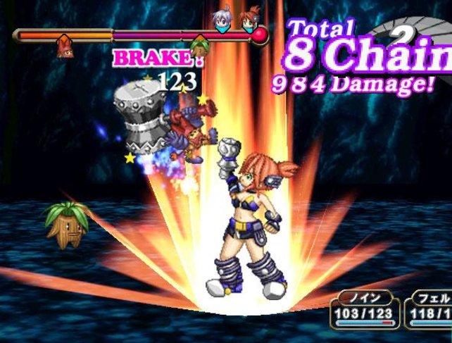 Die gegnerische Figur ist im krititischen Bereich und wird gerade durch Chainattacks angegriffen
