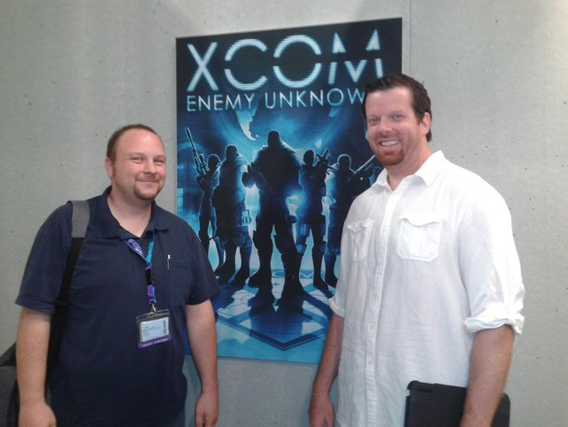 Garth DeAngelis, der Produzent von Xcom (mit weißem Hemd), stand uns für ein Interview zur Verfügung.