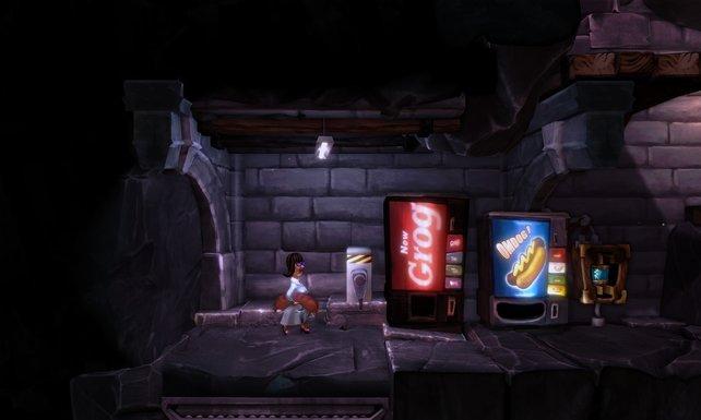 Der Grog-Automat - eine nette Anspielung auf Monkey Island.