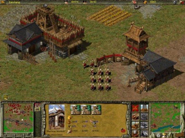Zwei Kasernen für Bogenschützen und Pikeniere