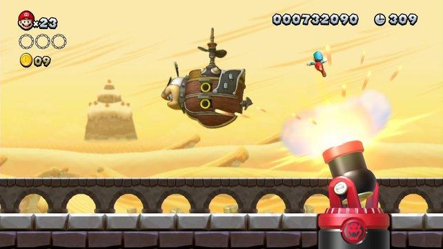 Springen, ausweichen, sammeln - Mario ist auch auf Wii U am Start.