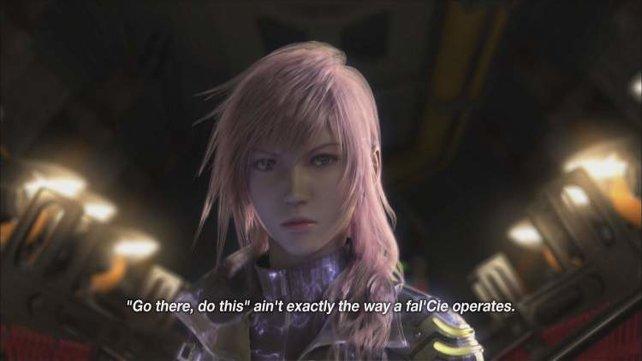 Lightning ist die Schwester von Serah und irgendwie nicht so gut drauf.