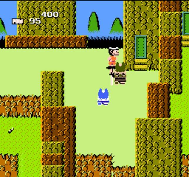 Das erste Dragon Ball fürs NES erscheint auch in Amerika, aber mit anonymisierten Figuren, weil den Comic kein Ami kennt
