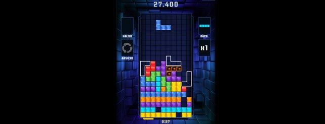 Tetris Reloaded: Auf Fingerdruck platziert ihr den nächsten Block und löst Kombomanöver aus.
