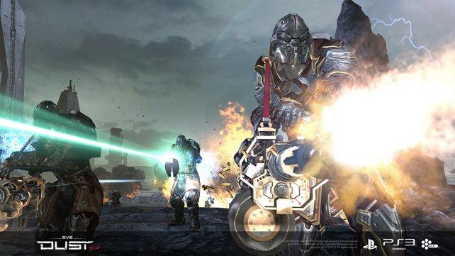 Der PS3-Shooter Dust 514 ist direkt mit EVE - Online für PC verknüpft.