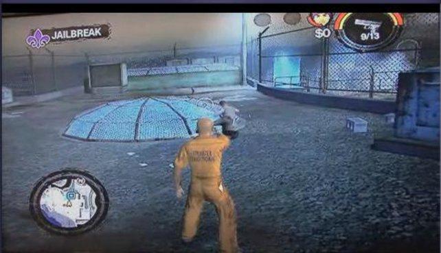Hier eine Spielszene, wie ihr zu Beginn aus dem Gefängnis ausbrecht.