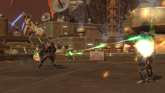 Non-Stop-Action mit Lichtschwert und Blaster