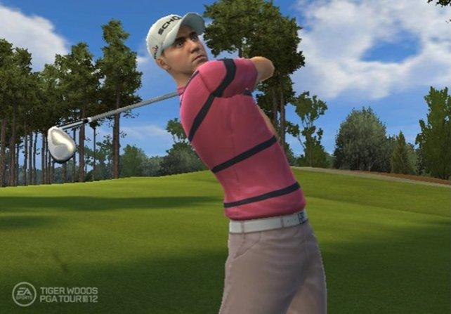 Ihr könnt zahlreiche Profi-Golfer spielen.