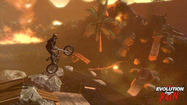 Mit dem BMX-Rad durch das Kriegsgebiet. Das kann nur Trials sein!
