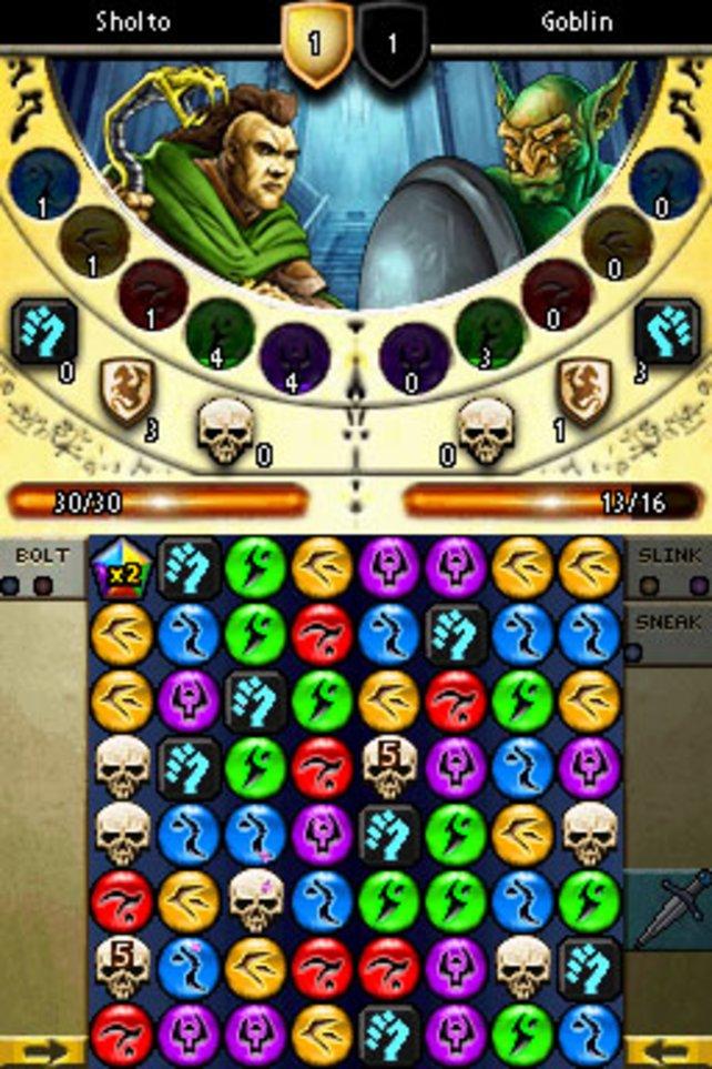Das Design des Puzzle-Screens ist diesmal ein wenig hübscher.