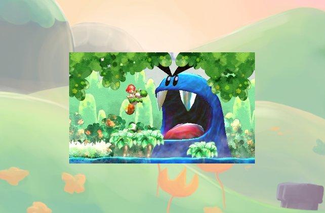 Auch den bissigen Blaumann kennen wir schon aus dem SNES-Original.