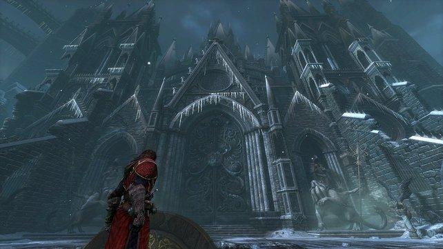 Bevor Gabriel im Dracula-Schloss aufräumt, schnetzelt er sich durch massig Gegnerwellen.