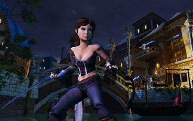Scarlett im virtuellen Venedig.