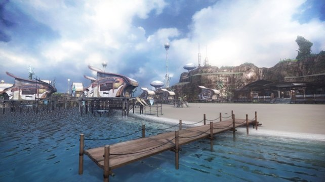 New Bodhum wurde laut Spiel nach den Ereignissen von Final Fantasy 13 erbaut.