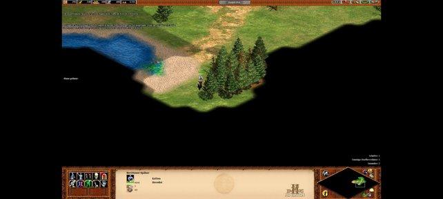 Die Karte müsst ihr erkunden, bevor ihr alle Gebiete seht.