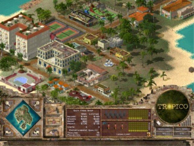 Eine gut ausgebaute Insel