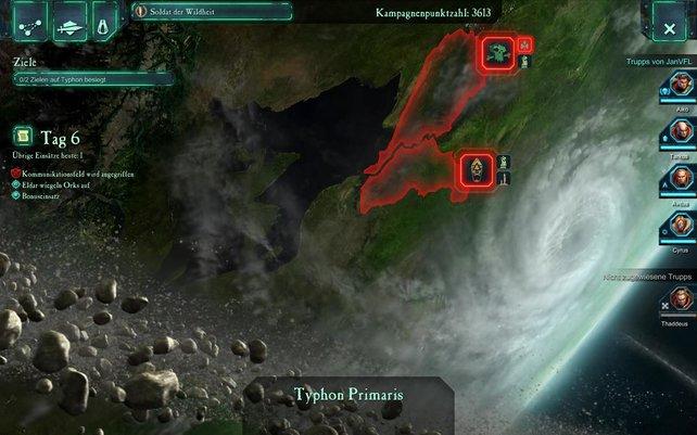 Auf dieser Karte wählt ihr zwischen den Missionen das nächste Einsatzziel.