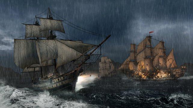 Die Wetterbedingungen ändern sich während der Schlacht.