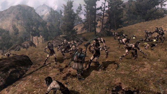 Gleich zu Beginn wirft euch das Spiel nach einem kurzen Intro ins Schlachtgetümmel.