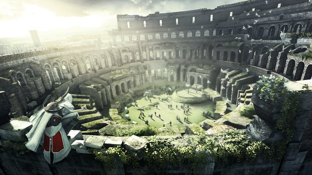 Das Kolosseum macht seinem Namen alle Ehre.