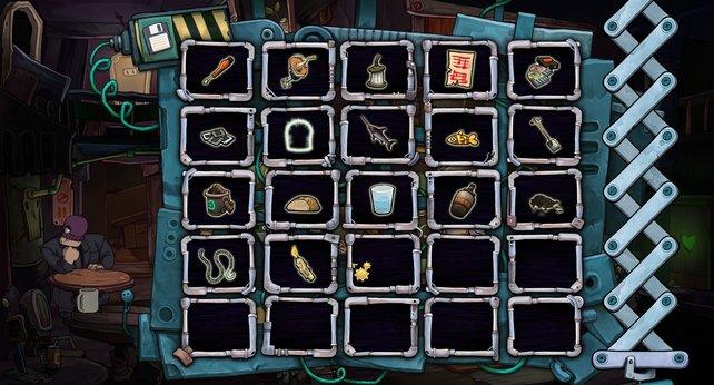 Bis zu 25 Gegenstände gleichzeitig könnt ihr mit euch herumtragen.