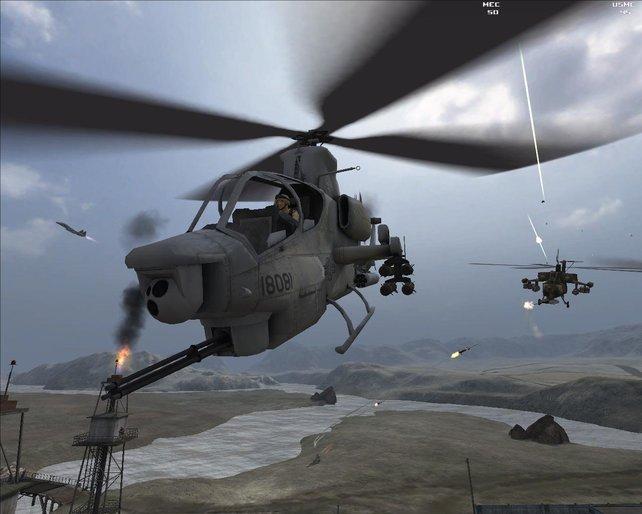 Der Apache zählt zu den stärksten Einheiten im Spiel.