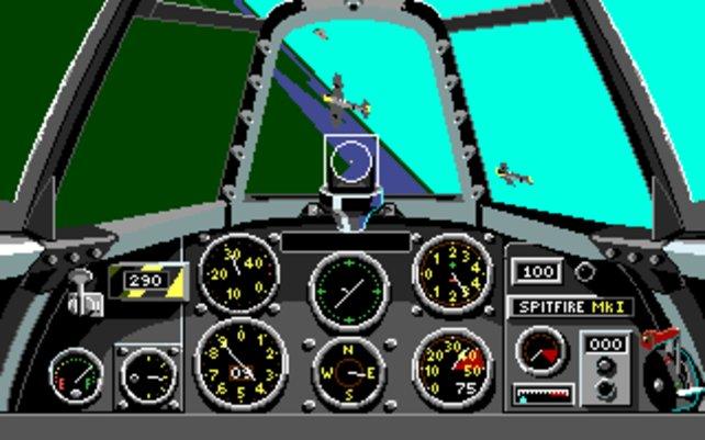 Lucas Arts mischt auch bei militärischen Flugsimulationen mit (hier Their Finest Hour).