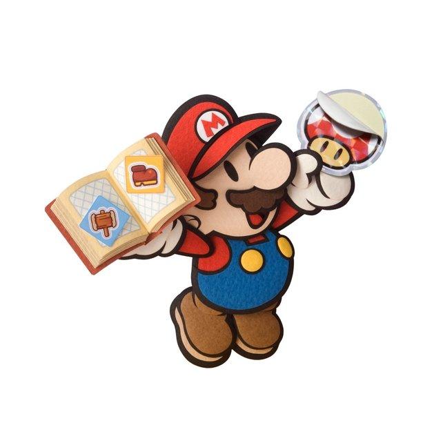 Paper Mario klebt nicht nur den Gegnern eine.