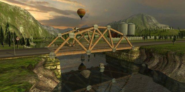 Eure Brücken baut ihr in Bridge Project mittels simpler Mausklicks.
