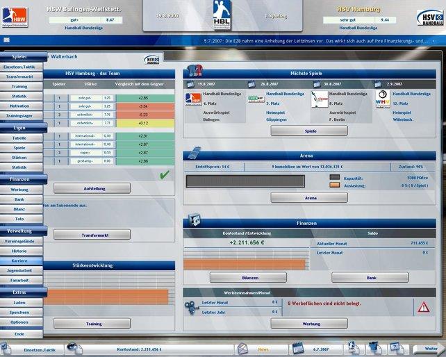Die Menügestaltung ist stark an dem Betriebssystem Windows Vista orientiert