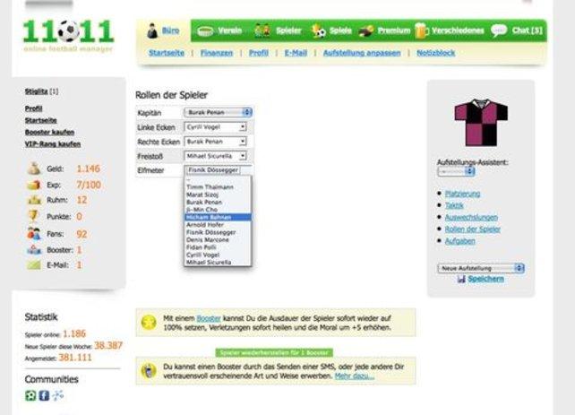 Kostenloses Browserspiel: Wer haut den Elfer rein?