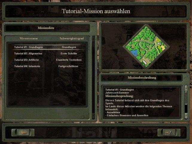 Tutorial Auswahlbildschirm