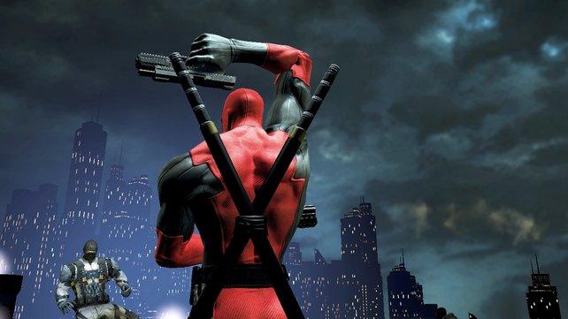 Posen gehört zu Deadpools leichtesten Übungen.