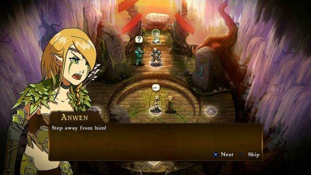 Im ersten Kapitel spielt ihr Elfe Anwen - ihre Truppen sind recht leicht zu beherrschen.