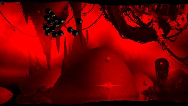 Blutrot ist der Himmel - in späteren Levels ist nicht mehr alles Sonnenschein.